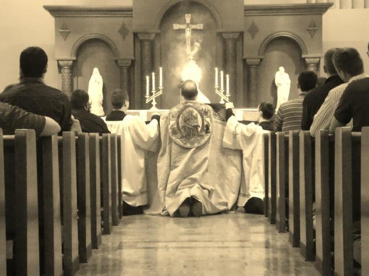 Adoration at Bishop Bruté
