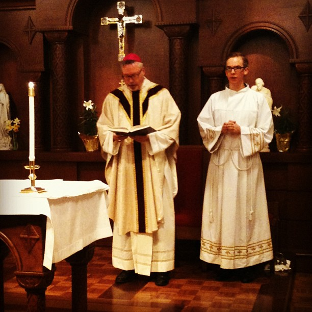 Mass with Bishop Christopher Coyne