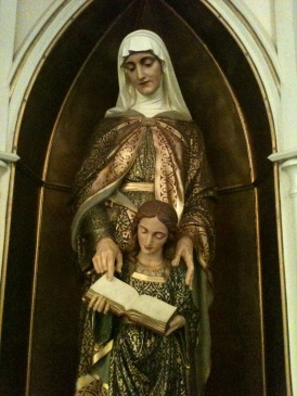 St. Ann and Mary - Statue at St. Joseph Parish, Bowling Green, KY