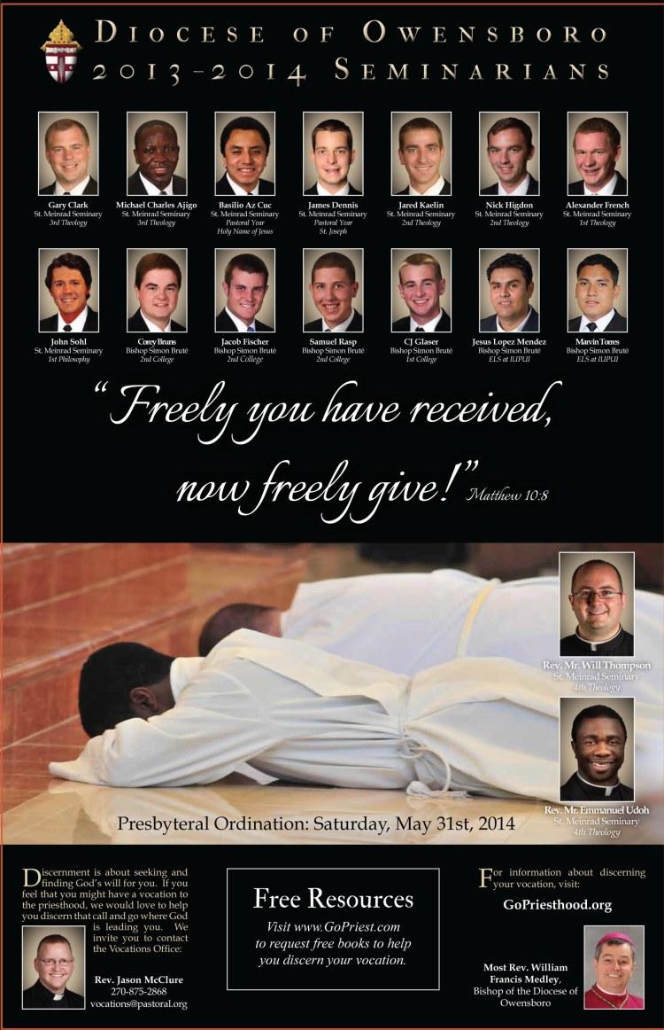 Owensboro Seminarian - Diocesan Vocations Poster