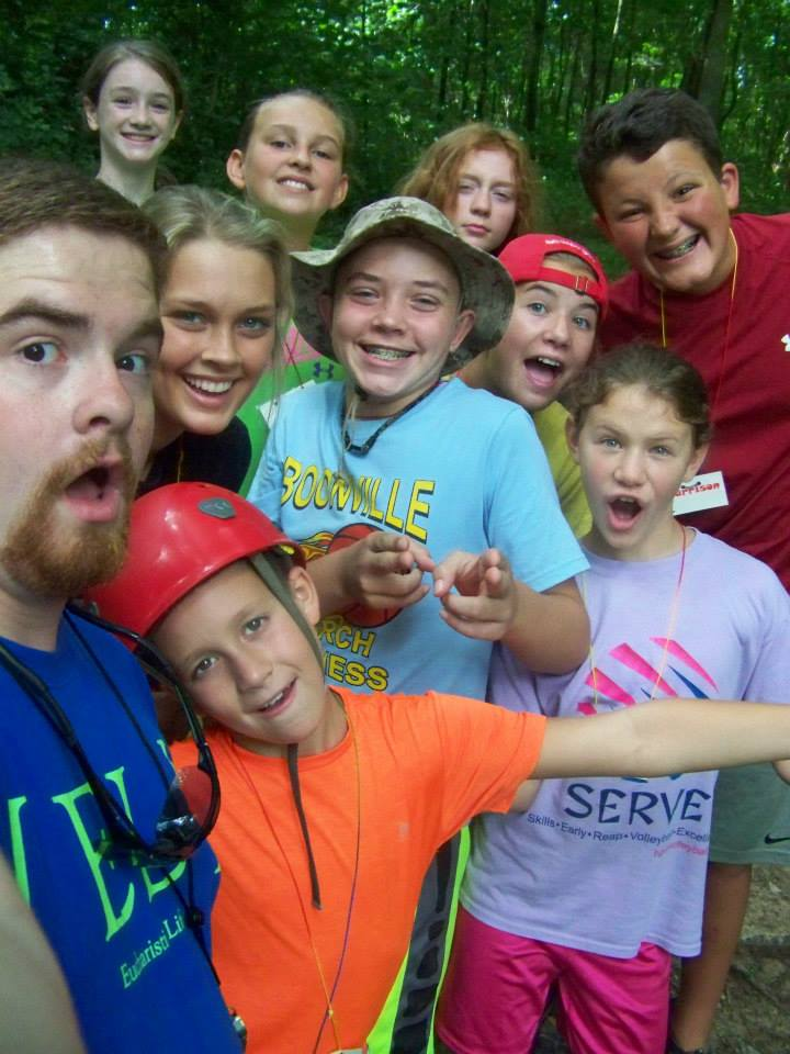 Working at camp - Selfie!