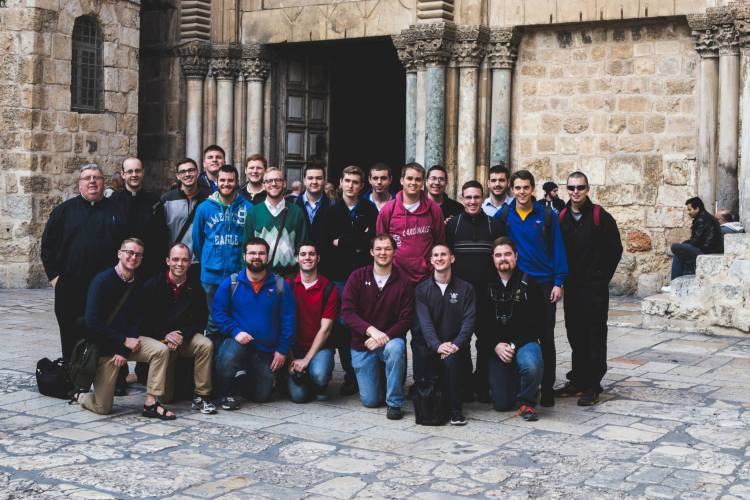 The pilgrim group from the Seminary