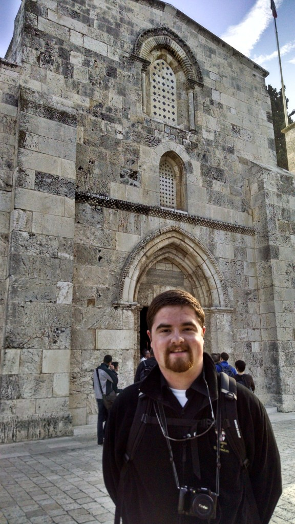 Me in front of the Church of St. Ann