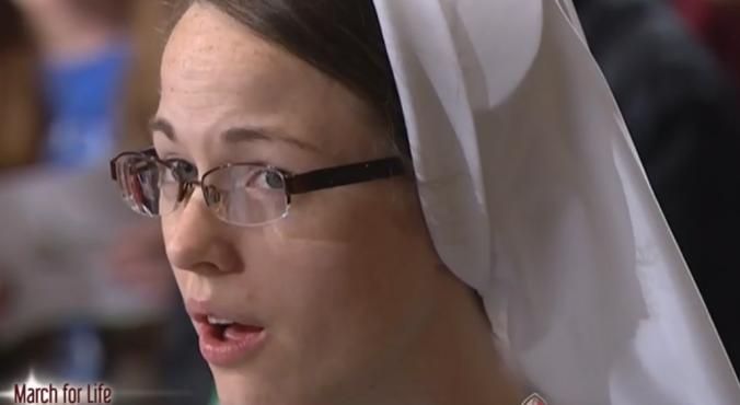 Sister Elizabeth Grace on TV singing praise to God!