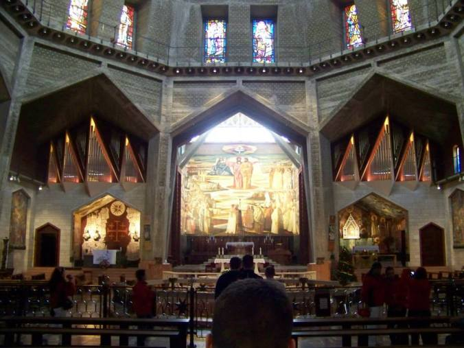 The upper church at the Basilica of the Annunciation