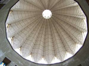 Inside of the dome of the Basilica. (Lilly)