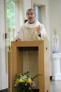 Bishop Medley, preaching during the Mass.