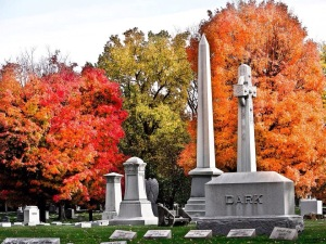 Fall at Crown Hill Memorial Cemetery