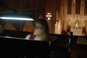 Our organist, Mrs. Jamison