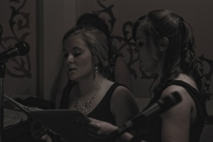 Charity & Rose singing the Ave Maria