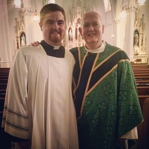Father Andy Garner and myself.